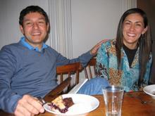 Conversation and dessert at an Acadia Center dinner.