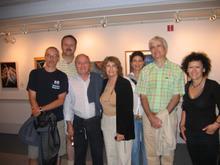 Meeting the artist Albie Davis at her painting exhibit in Camden.