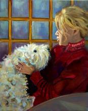 Portrait of Martine, by Albie Davis.