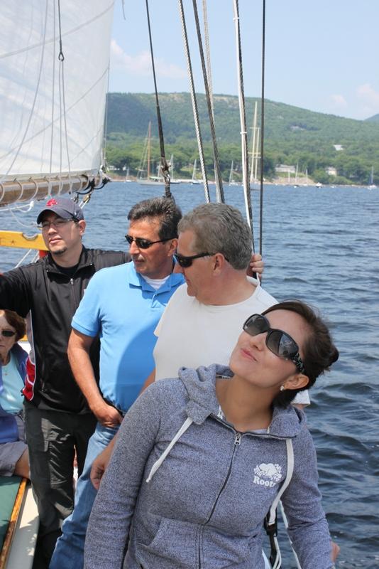 sailing on schooner Surprise