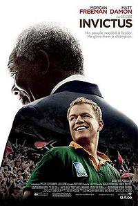 Invictus starring Morgan Freeman and Matt Damon.